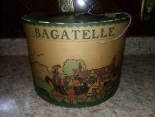 Antique 1930's Bagatelle Hat Storage Box Date Stamped on Bottom Original Receipt