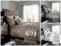Adrianna Modern Duvet Quilt Cover Bedding Set with Pillow Case All Sizes