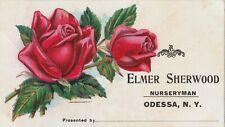 Tradecard, Elmer Sherwood, Nurseryman, Odessa, New York NY