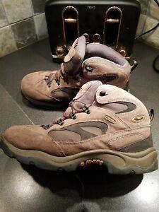 Hi-Tec Waterproof mens Walking Boots Suede Brown UK 10