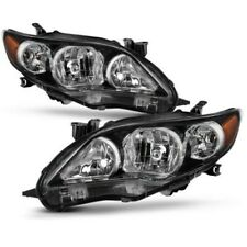 For 2011-2013 Toyota Corolla Black Headlights lamps Aftermarket Left+Right NEW