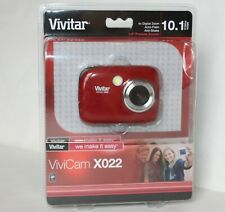 Vivitar ViviCam X022 10.1 Mega Pixels Red Digital Camera