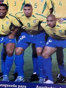 2002 Futebol (Soccer) Brasil World Cup Ronaldo #9 Signature Jersey Size GG