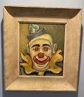 "Vtg Philip Kran Paval 1899-1971 Circus Clown Oil Painting On Board 20.5""X 18.5"""