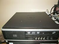 HP Elite 8000 USFF Pentium Dual Core 2.70Ghz, 320Gb HDD, 4Gb RAM, DVD/RW, Win 10