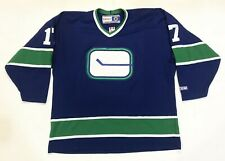Vintage CCM Vancouver Canucks INGHAM #17 NHL Hockey Jersey Adult XL Blue Canada