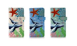Shagwear Blue Whale Large Zipper Women's Wallet