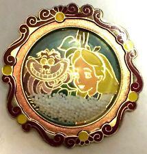 DisneyStore.com Snowglobe Alice in Wonderland & Cheshire Cat Pin