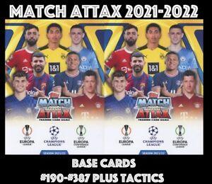 MATCH ATTAX 2021-2022 CHAMPIONS LEAGUE 2021/22 #190 - #387