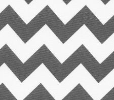"""Indoor/Outdoor Waterproof Canvas Chevron Fabric SILVER WHITE / 60"""" W / Sold BTY"""