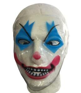 New Clown Plastic Face Mask Halloween Fancy Dress Party Costume Accessory UK