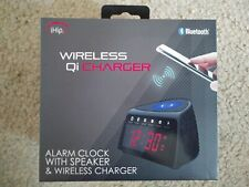 New iHip Wireless Qi Charger Alarm Clock with Wireless Charger