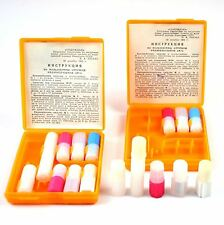 Soviet russian first aid medicine kit. Russian medicine box.  NBC protection kit