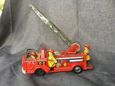 Vintage Tin Fire Truck Toy -Japan - No Reserve Trade Mark TN F.D 24670