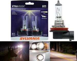 Sylvania Xtra Vision Two Bulbs H11 55W Fog Light Replace Upgrade Halogen Legal
