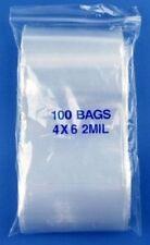 "PREMIUM 3/""x4/"" 100PC CLEAR ZIP LOCK BAGS BAGGIES 2MIL RESEALABLE COIN JEWELRY JSP"
