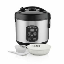 """Hamilton Beach Rice Hot Cereal Cooker, 4 Cups Uncooked Resulting in 8-Co"""""""