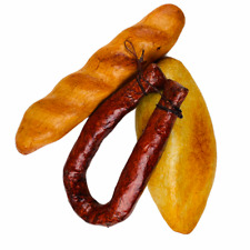 Bread Loaf Fake Food with Faux Sausage 2 Loaves Decorative Realistic Prop Decor