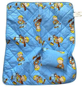 "Bob The Builder Catcha Wink Naptime Daycare Blanket 36"" X 42"" To 16"" With Pillow"