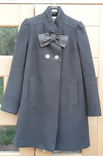 Ruby & Ted womens black trapeze bow coat, size 10