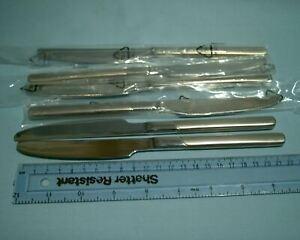Dunelm Stainless Steel Cutlery ALDERLEY - 6 Knives/Knife NEW 22cms HOTEL RANGE