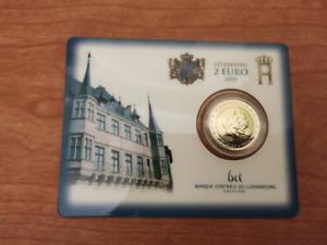 2 euros coincard BU Luxembourg 2005 Henri et Adolphe édition limitée cote 135 eu