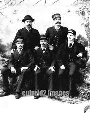 1893 OPRR Oregon Pacific Railroad Train Crew Portrait