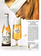 PUBLICITE 1968   FISCHER GOLD  bière d'ALSACE