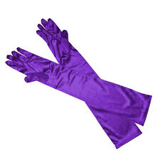 Charm Lady Satin Long Gloves Opera Wedding Bridal Evening Party Costume Gloves