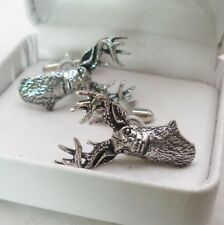 White Tailed Deer Cufflinks in Fine English Pewter