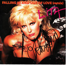 Lita Ford - Falling In And Out Of Love USA 45 Autographed by Lita Ford with COA
