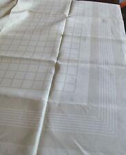 Tischdecke - Leinen Damast - Tafeltuch- klassisches geometrisches Muster- Shabby
