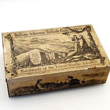 ANTIQUE tin cigarette empty box Balkan Sobranie Turkish cigarettes vintage RARE