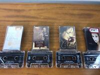 4x CELINE DION Audio Cassette Music Album Bundle Includes Rare Live