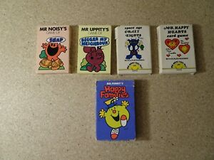 Vintage Mr Men Little Miss Card Games 5 games Funny Characters