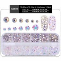 Crystal Clear AB Rhinestones Nail Rhinestones For Nails 3D Nail Art UK UK .