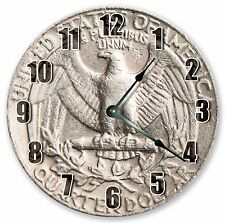 """10.5"""" UNITED STATES QUARTER CLOCK - Large 10.5"""" Wall Clock - Home Décor - 3085"""
