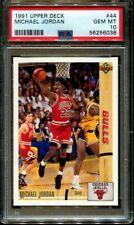1991 UPPER DECK #44 MICHAEL JORDAN BULLS HOF PSA 10 K3156841-038