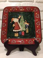 Noble Excellence Santa Mates Square Salad Plate New Without Tags