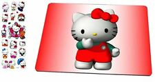 Hello Kitty Mouse Pad with Hello Kitty 3-D Stickers Set Hello Kitty, HK:MP-13