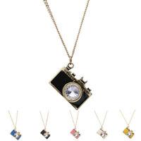 Fashion Women Retro Camera Pendant Gold Plated Long Chain Necklace  Jewelry