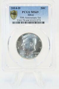 2014-D PCGS MS69 Silver Kennedy Half Dollar 50C