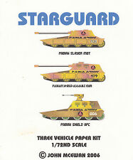 Fabian Vehicles - 3 Starguard Science Fiction Panzer - 1:72 Papierbausätze