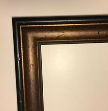 Picture Frame Length Moulding Distressed, Antiqued Gold & Black 4~54� Pieces