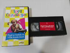 PIPPI LANGSTRUMP CALZASLARGAS VOLUMEN 1 - SERIE TV VHS CINTA TAPE CASTELLANO &