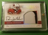 2016 Panini National Treasures Colossal David Johnson 3 Color Patch Auto /25