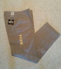 Dockers Signature Khaki Classic Fit Flat-Front Men's Pants W32 L34   Plaid