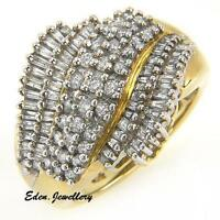 US$1559 WOW ... Terrific Ring with 1.25ctw Genuine Diamond Solid Gold 75% OFF