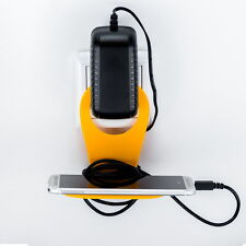 Orange Handy-Halterung für Steckdose Handyhalter Ladehalterung Halter Aufladen