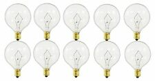 60-watt G16.5 Decorative Globe E12 Candelabra Base Light Bulbs, Crystal Clear...